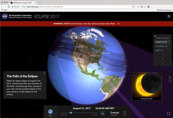 NASA's Eyes: The Eclipse 2017 logo